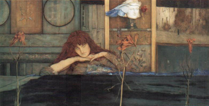 Fernand Khnopff : «I Lock my Door Upon Myself» (1891, Munich, Neue Pinakothek)