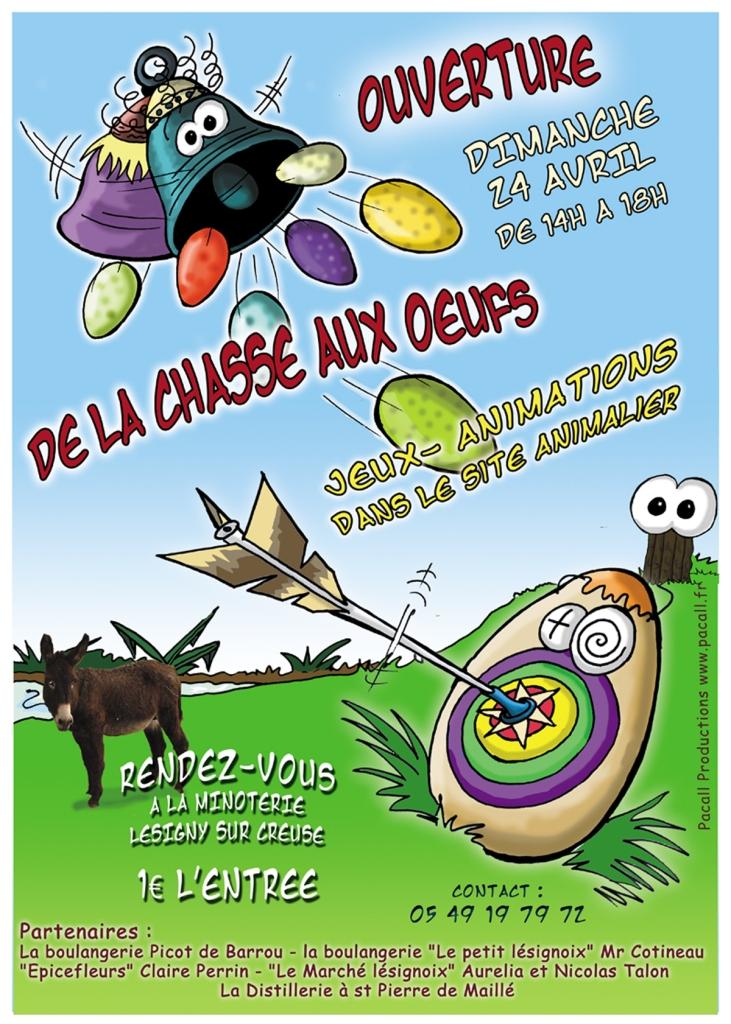 La chasse aux oeufs est ouverte à la Minoterie de Lésigny