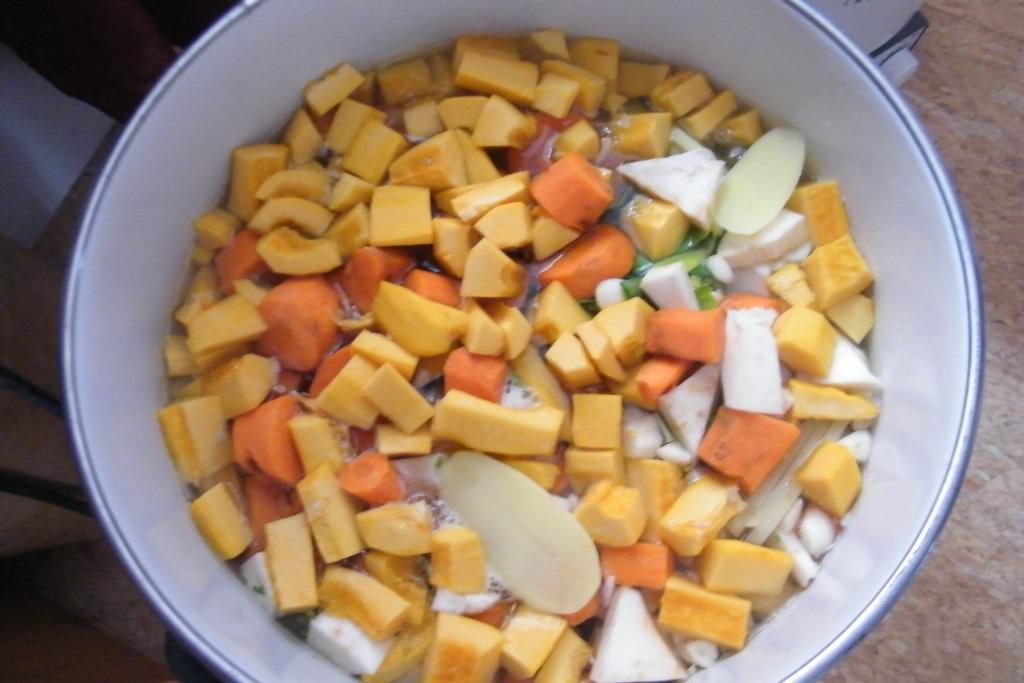 La soupe aux légumes du jardin